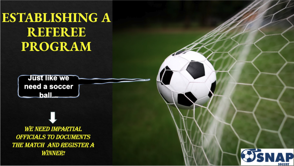 Establishing a Referee Program
