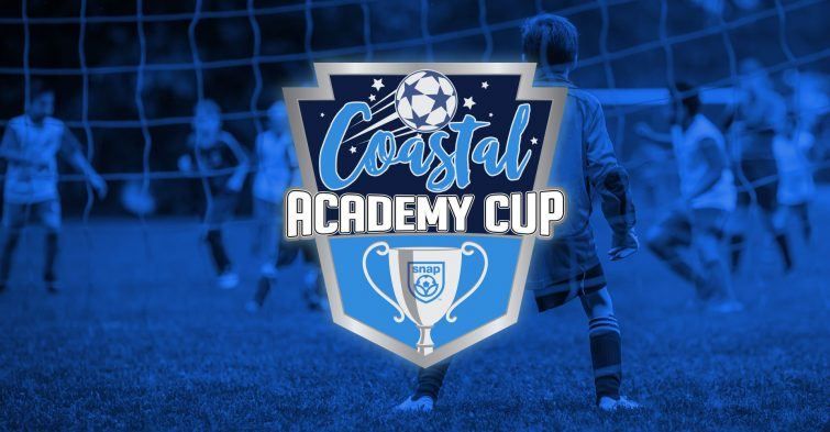 Coastal Academy Cup logo on blue background
