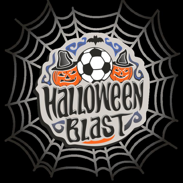 Halloween Blast soccer tournament logo