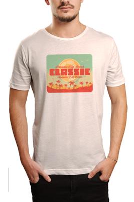 Panama City Beach Classic t logo on white tshirt