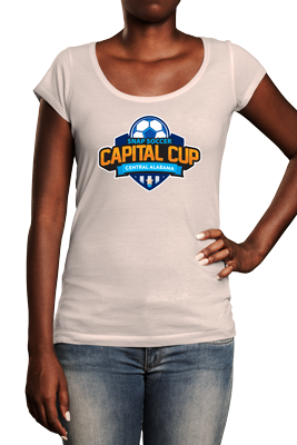 Capital Cup logo on white tshirt
