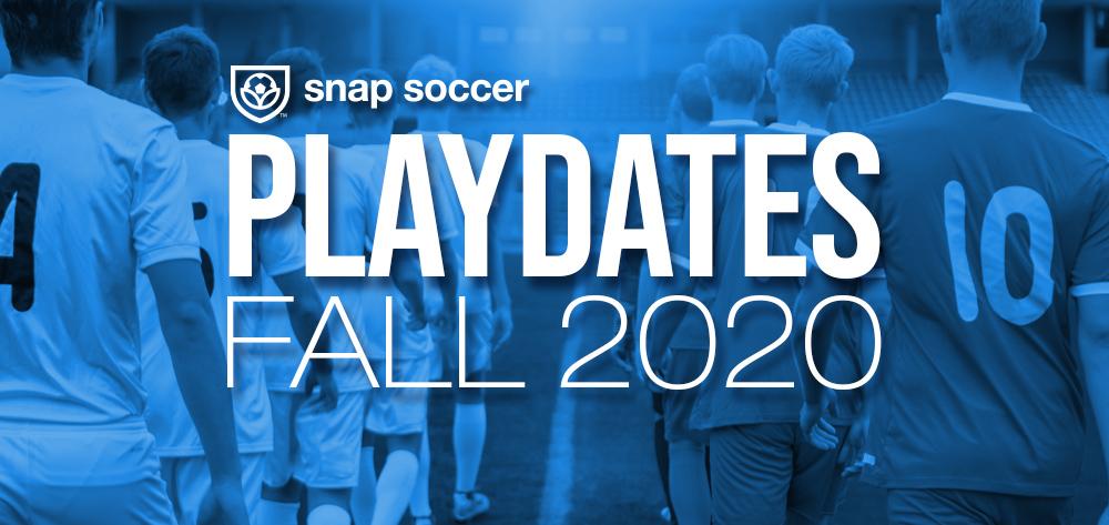 Snap Soccer Playdates banner