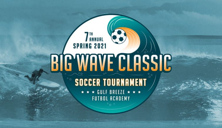 Big Wave Class youth soccer tournament logo