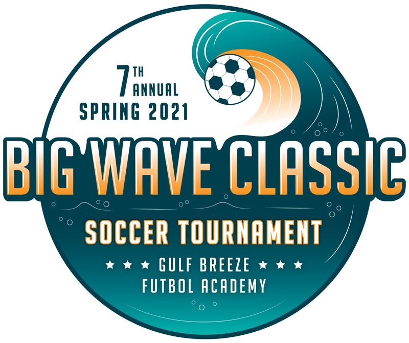 Big Wave Class youth soccer tournament logo