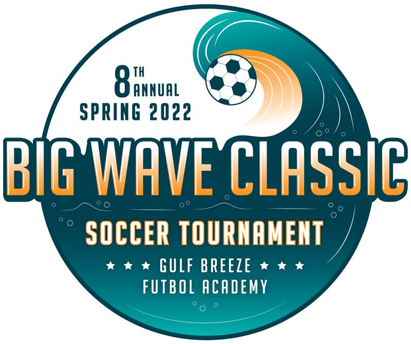 Big Wave Class youth soccer tournament 2022 logo