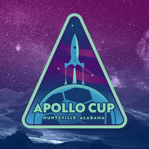 Apollo Cup logo for youth soccer tournament, Huntsville, Alabama